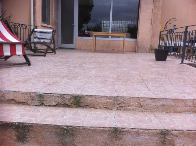 Etancheit terrasse a ventabren pose de carrelage crcf for Etancheite terrasse carrelage
